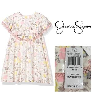 🆕JESSICA SIMPSON BABY - FLORAL DRESS - 18M - NWT